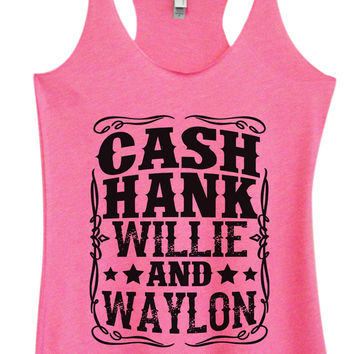 Womens Fashion Triblend Tank Top - Cash Hank Willie And Waylon - Tri-1571