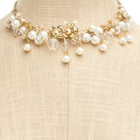 Charlotte Russe - Short Pearl Cluster Necklace