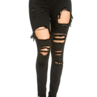 Lola Distressed Jeans - Black