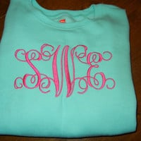 Monogrammed Sweatshirt by SewChicNC on Etsy