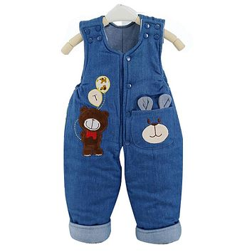 2017 New Baby Pants Boys Girls Trouser Jeans Denim Jumpsuit Overoles Kids Spring and Autumn Children Jeans Jumpsuits Clothes