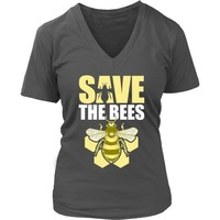 Save the Bees (Honeycomb) - Women's V-Neck