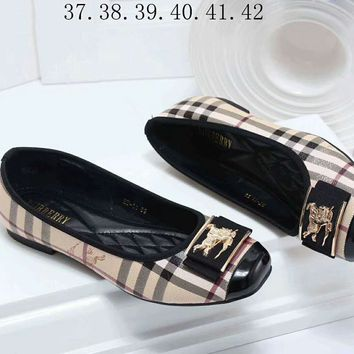 Burberry Popular Girls Flats Boat Shoes Single Shoes Sandals I-a-BBPFCJ