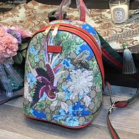 Gucci New Trending Women Leather Stylish Bird Lady Beetle Pattern Shoulder Bag Daypack Backpack I-WXZ2H