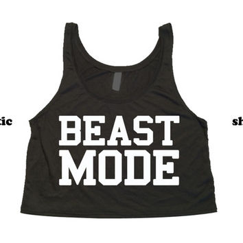 Beast Mode Tank Top | Fitness Crop Top | Workout Clothing