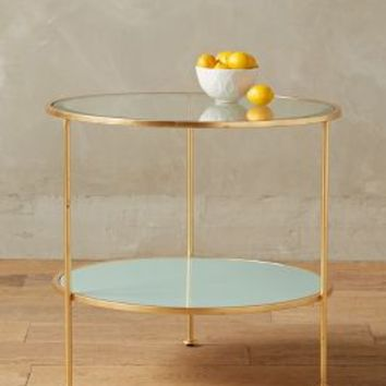 Lacquered Round Side Table by Anthropologie