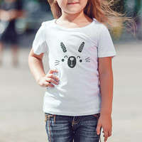 Youth Fine Jersey Tee / Kids Tshirt  / Toddler Tee / Happy Rabbit