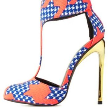Privileged for CR Double Houndstooth Pumps
