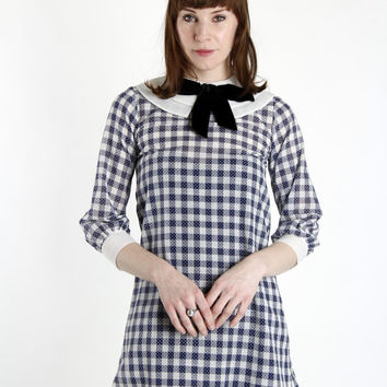 Plaid MiNi Dress 1960s BABYDOLL
