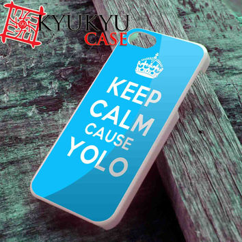 Tiffany Blue Keep Calm Cause YOLO - iPhone 4/4S, iPhone 5/5S, iPhone 5C Case and Samsung Galaxy S2 i9100, S3 i9300, S4 i9500 Case
