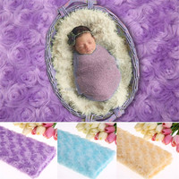 100*50cm New Style Comfortable Baby Newborn Photo Prop Faux Fur Blanket Basket Stuffer Fur Photography Props Newborn