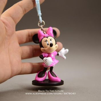 Disney Mickey Mouse Minnie 8cm mini doll Action Figure Posture Anime Decoration Collection Figurine Toy model children girl gift
