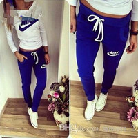 Hot!! new arrival 2015 tracksuit Good quality sport suit 2 pieces set women clothing hoodies sports women sweatshirt+pants