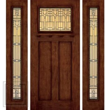 Jeld wen a312 door sidelights mahogany from us door - Jeld wen exterior doors with sidelights ...