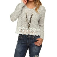 Sale-gray Keep It Cool Cropped Sweater