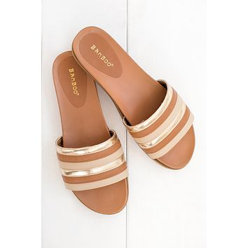 Sliding Into The Weekend Sandals (Tan)