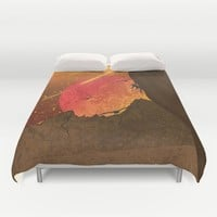 When The Red Moon Appears Duvet Cover by Berwies