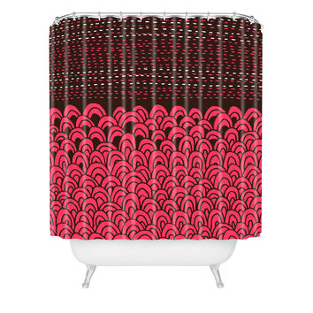 Budi Kwan The Infinite Tidal Fuschia Shower Curtain