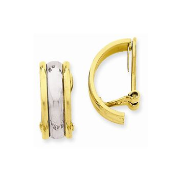 14k Two-tone or Tri Color Gold Non-pierced Earrings