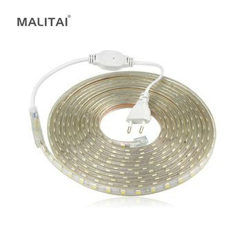 LED Strip light 220V 5050 Waterproof 5M 10M 15M 20M 25M 60LEDs/M Closet Wardrobe Stairs Under Cabinet light Decorative lamp Tape