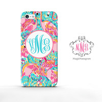 Peel and Eat Flamingo Lilly Pulitzer Monogram iPhone 6s Case, iPhone 6 Case Series
