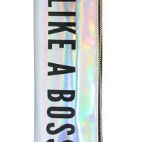 Like A Boss Round Zipper Pouch / Vibrator Cozy in Iridescent