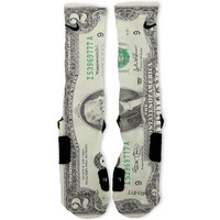 Two Dollar Bill Lucky 2 Custom Nike Elite Socks