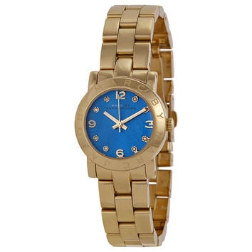 Marc by Marc Jacobs Amy Mini Blue Dial Gold-tone Ladies Watch MBM3304