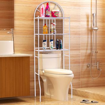 Bathroom Towel Storage Rack with 3 Shelves This 3-tier bathroom rack is perfect furniture to decorate your bathroom without sacrificing valuable floor space.