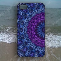 mandala Blue mandala Phone case,Samsung Galaxy S5/S4/S3,iPhone 4/4S case,iPhone 5 case,iPhone 5S case,iPhone 5C case,B88
