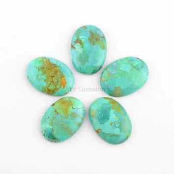 Arizona Turquoise Oval Shape Gemstones, Blue Turquoise Wholesale Calibrated Gemstone- 1 Pcs.