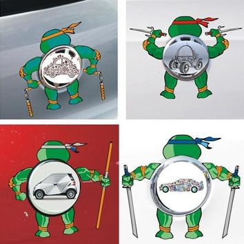 Car Stickers Teenage Mutant Ninja Turtles Creative Cartoon  Decals For Cars Logo Colorful Waterproof Auto Tuning Styling D11