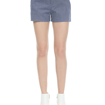 Isabeau Printed Pique Shorts, Size: 8, DARK NAVY - Joie