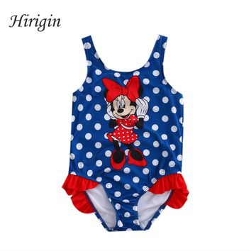 Hirigin 2017 Adorable Baby Girls Lovely Cure Cartoon Swimwear Bikini Swimming Swimsuit Beach Clothes 1-5Y SS