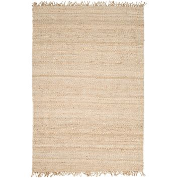 Bleached Jute Frayed Rug