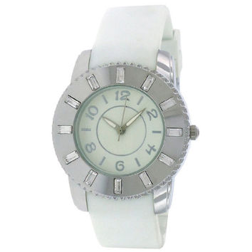 FMD Ladies White Silicone Watch  by Fossil