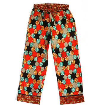 Soft Cotton African Lounge Pants - Star