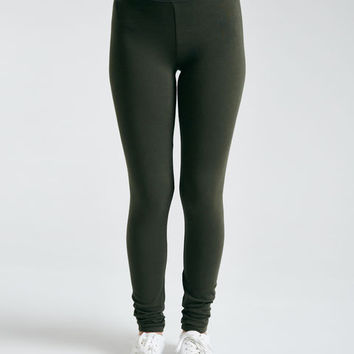 Long-Rise Ankle Leggings | Wet Seal