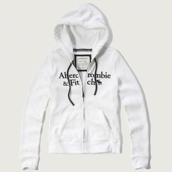 Abercrombie & Fitch Women Fashion Casual Cardigan Jacket Coat Hoodie-22