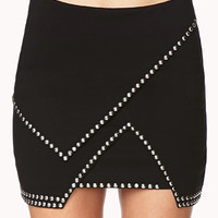 Total Stud Mini Skirt
