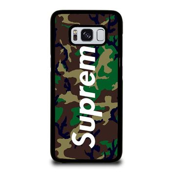 SUPREME CAMO Samsung Galaxy S8 Case Cover