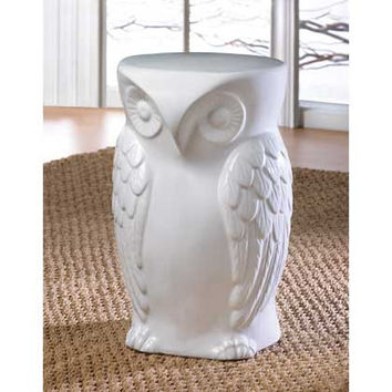 Wise Owl Ceramic Stool