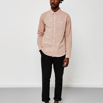 The Idle Man Long Sleeve Basic Shirt Pink