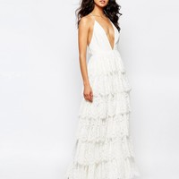 Fame And Partners Bridal Tiered Maxi Dress