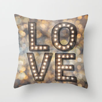 Love is the Light of Your Soul (LOVE lights) Throw Pillow by soaring anchor designs ⚓ | Society6