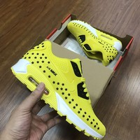 Nike Air Max 90 KPU Men Fashion Sneakers Sport Shoes Fluorescent yellow