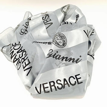 Versace Scarf - Gianni Versace Wrap - Womens Scarves - Scarf Women - Designer Scarf Designer Scarves - Versace  Clothing Women Womens Scarf