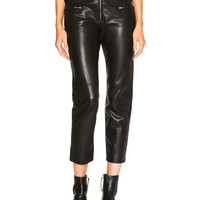 Isabel Marant Florrie Leather Pants in Black | FWRD