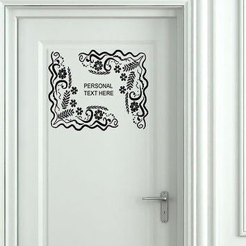Wall Mural Vinyl Decal Sticker Sign Door Frame Personalized Text Name AL266