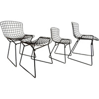 Bertoia Knoll Child Wire Chairs w Child Ottoman 4 pc 60s Modern RARE Set